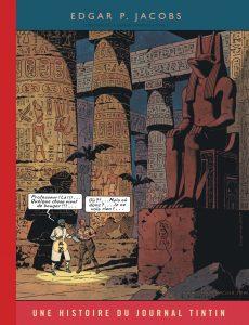 Blake Mortimer mystere de la grande pyramide Mortimer nasir dans un temple couverture Tintin centaurclub