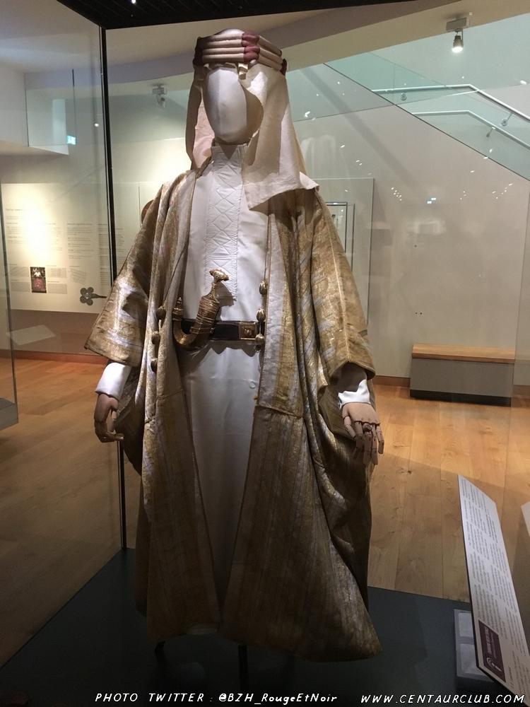 Tenue de Lawrence d'Arabie à l'Ashmolean museum.  centaurclub