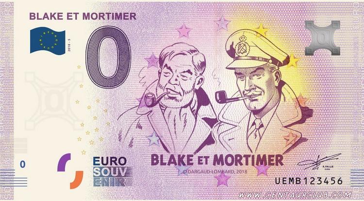 Billet souvenir Blake et Mortimer-centaurclub