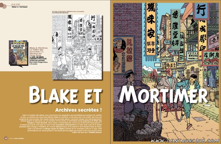 Blake et Mortimer dossier vallée immortels le début centaurclub