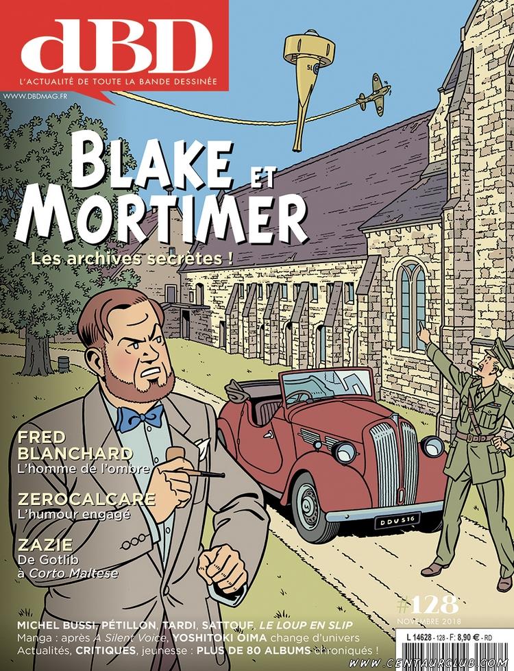 Blake et Mortimer en couverture du DBd magazine centaurclub