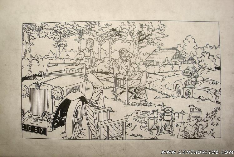 Dessin à l'encre de Chine de l'affiche par Teun Berserik-centaurclub