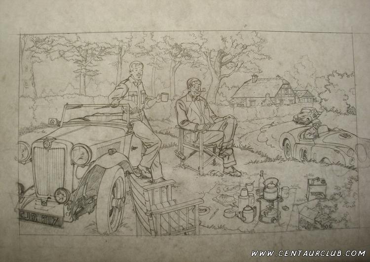 Crayonné de l'affiche blake et Mortmer par Teun Berserik-centaurclub