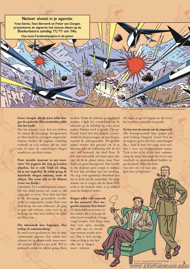 Blake et Mortimer. interview Ballon Magazine en Néerlandais. centaurclub