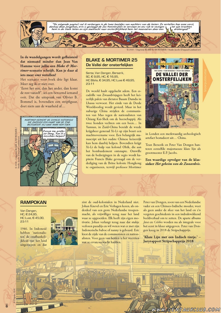 Blake et Mortimer. interview Ballon Magazine en Néerlandais.